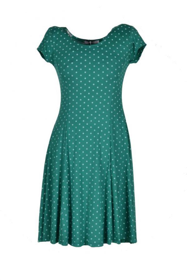 Realize jurk groen polkadot