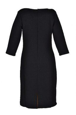 Angelle milan jurk relief zwart
