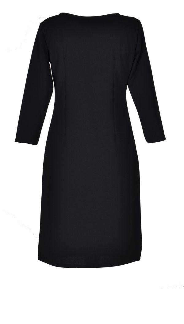 FOS jurk egaal zwart achter