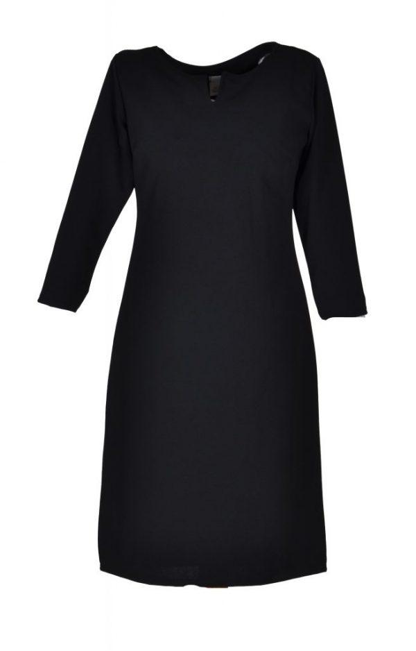 FOS jurk egaal zwart voor