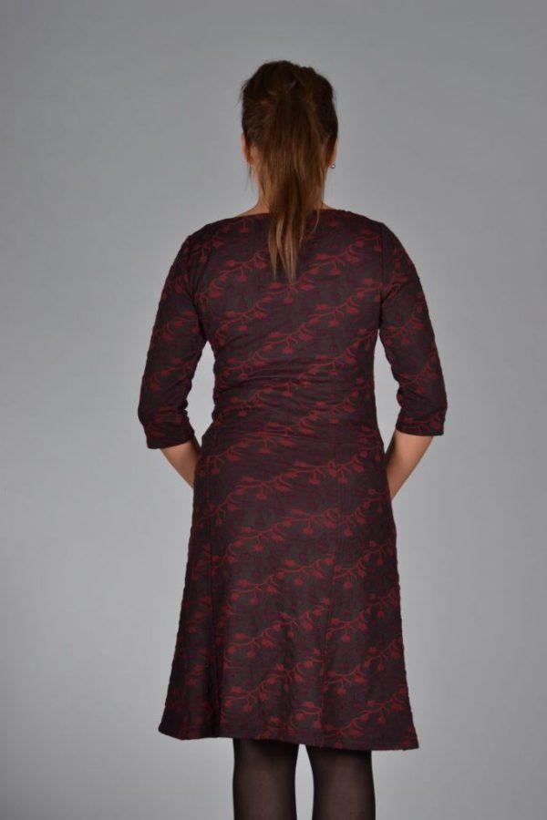 Le pep dress deborah bordeaux achter