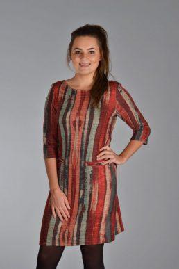 Vegas jurk steiger hout rood