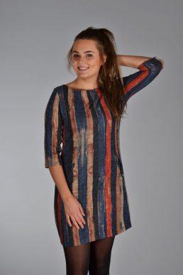 Vegas jurk steiger hout blauw