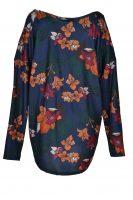 Sensi Wear top exotische bloem blauw achter