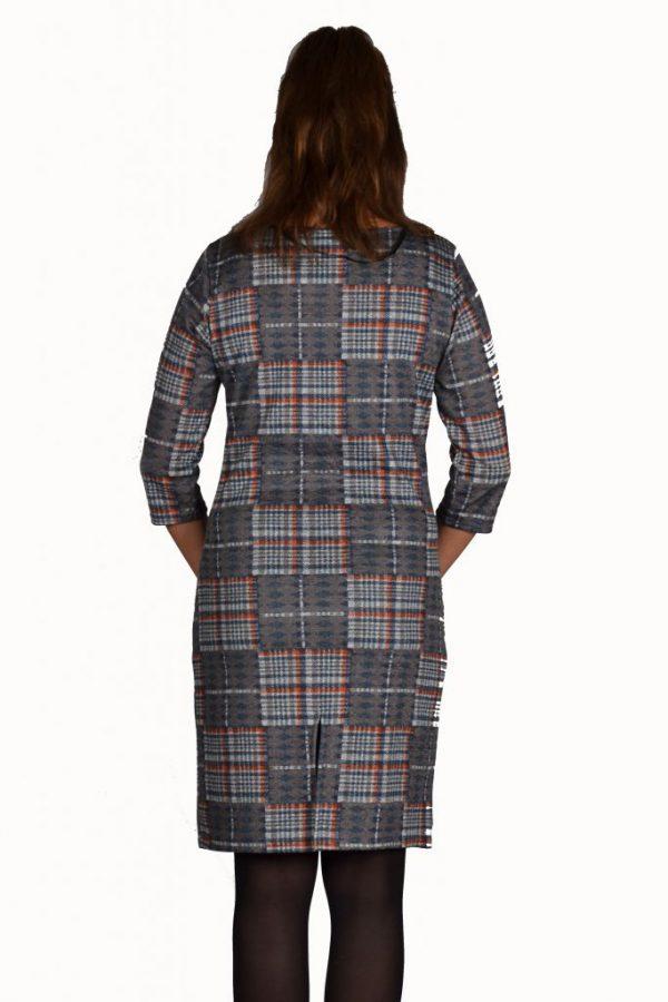 Stella Moretti jurk ruit oranje