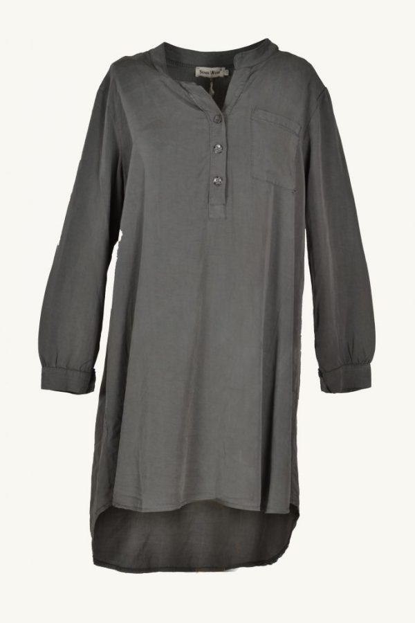 Sensi Wear blouse oversized olijfgroen