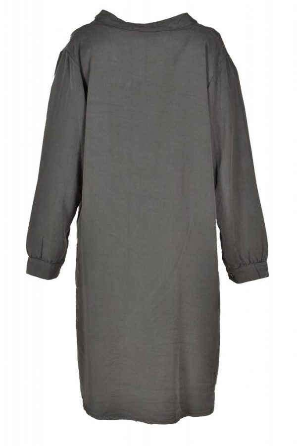Sensi Wear blouse oversized olijfgroen achter
