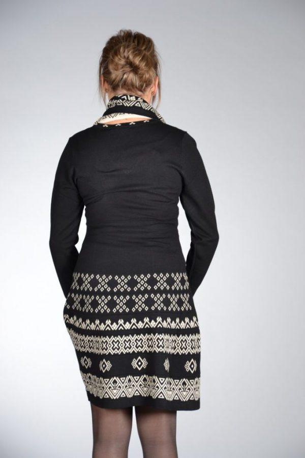 Invisible jurk A-lijn zwart/wit