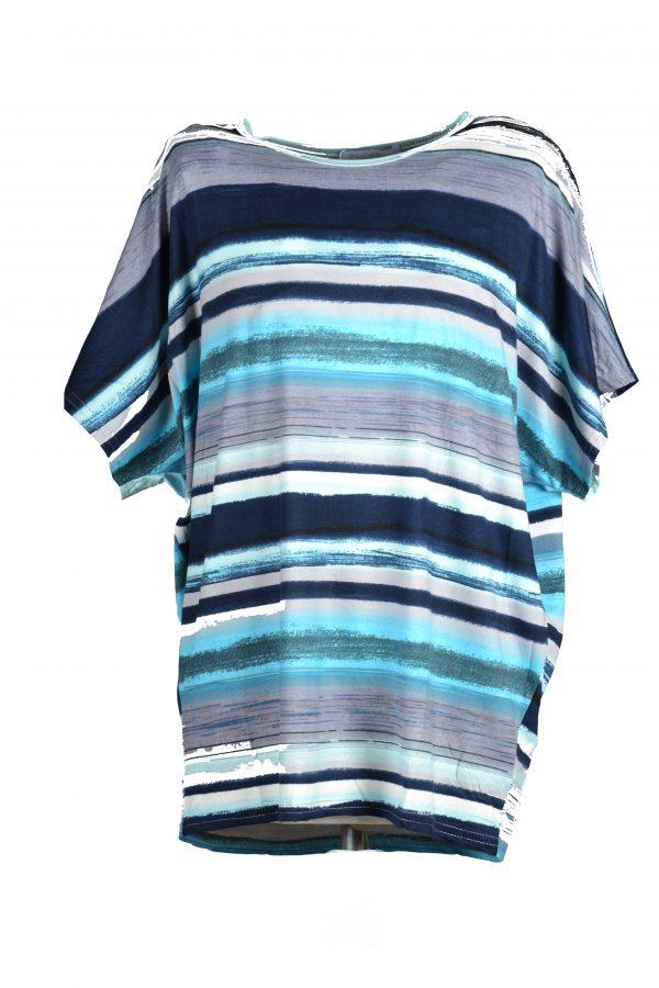 Foglie Rosse shirt blauw voor