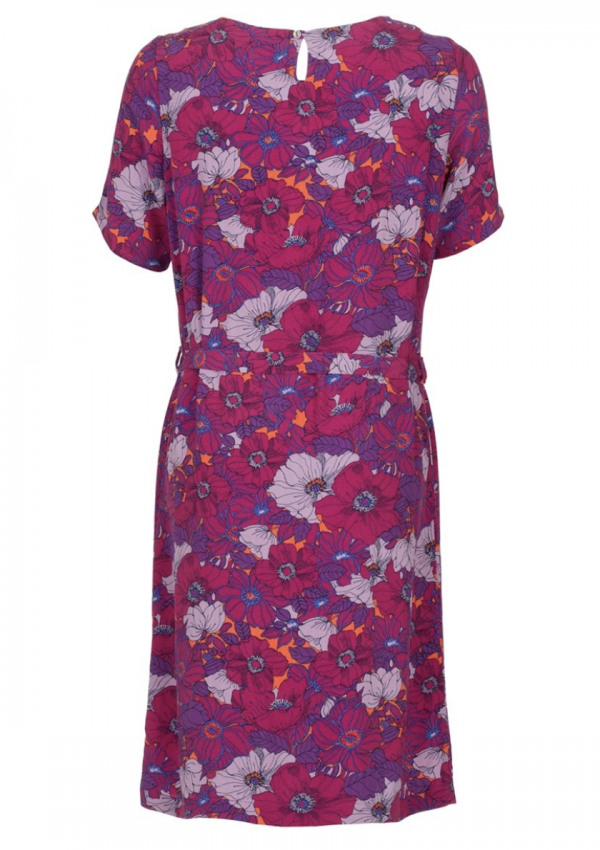 Le Pep dress Amily Sangria Flower achter