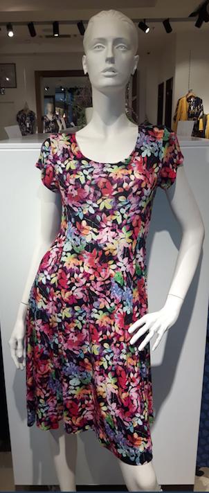 Debbie Morgan jurk gekleurde kleine blaadjes