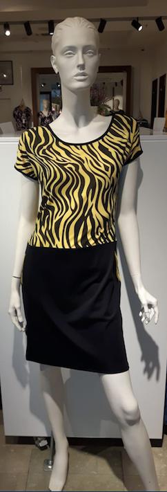 Angelle Milan jurk gele zebra