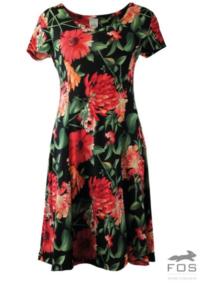 FOS jurk Rode Bloem