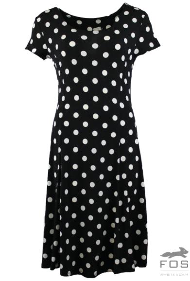 FOS jurk Nopje Zwart