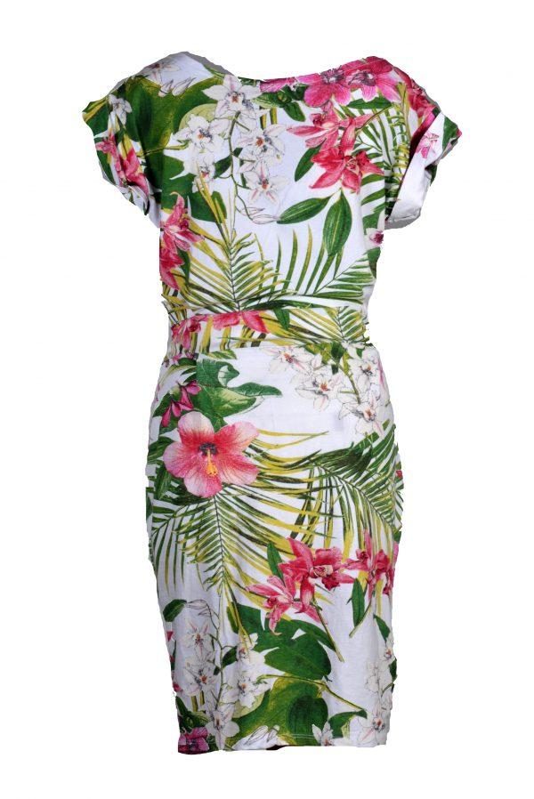 Sensi Wear jurk tropische bloem achter