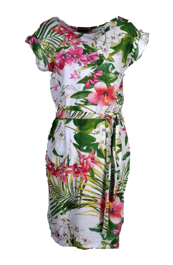 Sensi Wear jurk tropische bloemen