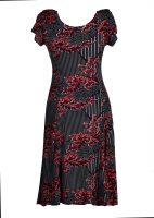 Papillon jurk rode bladerentak achter