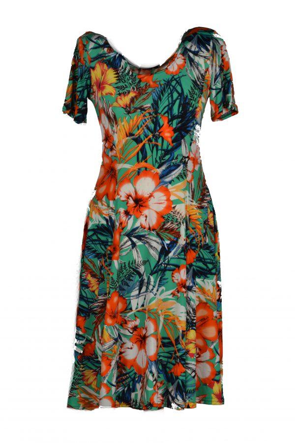 Adnice jurk oranje bloem