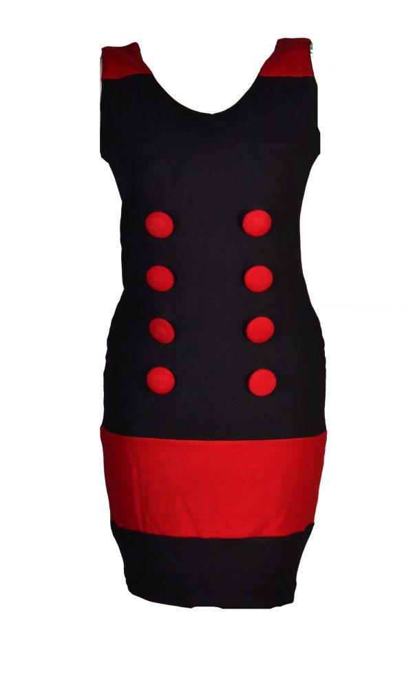 People Republic jurk knopen rood
