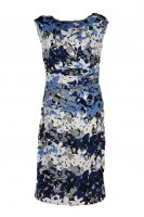 Stella jurk bladeren blauw
