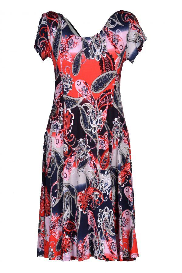 Exclusive jurk Paisley Rood