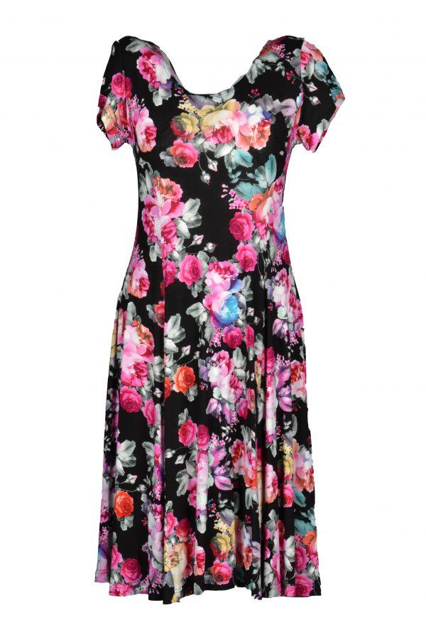 Exclusive jurk bosje rozen