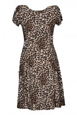 Stella Moretti jurk dierenprint zand