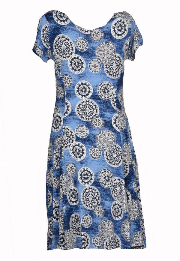 Stella Moretti jurk Bewerkte Cirkels achter