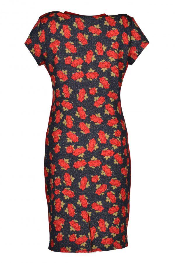 Stella Moretti jurk Rode Roos achter