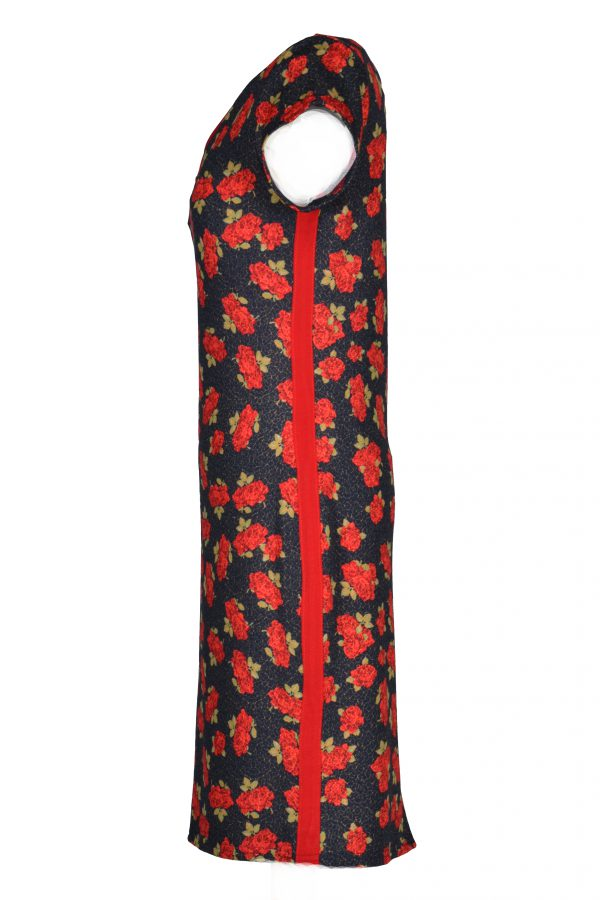 Stella Moretti jurk Rode Roos zijkant
