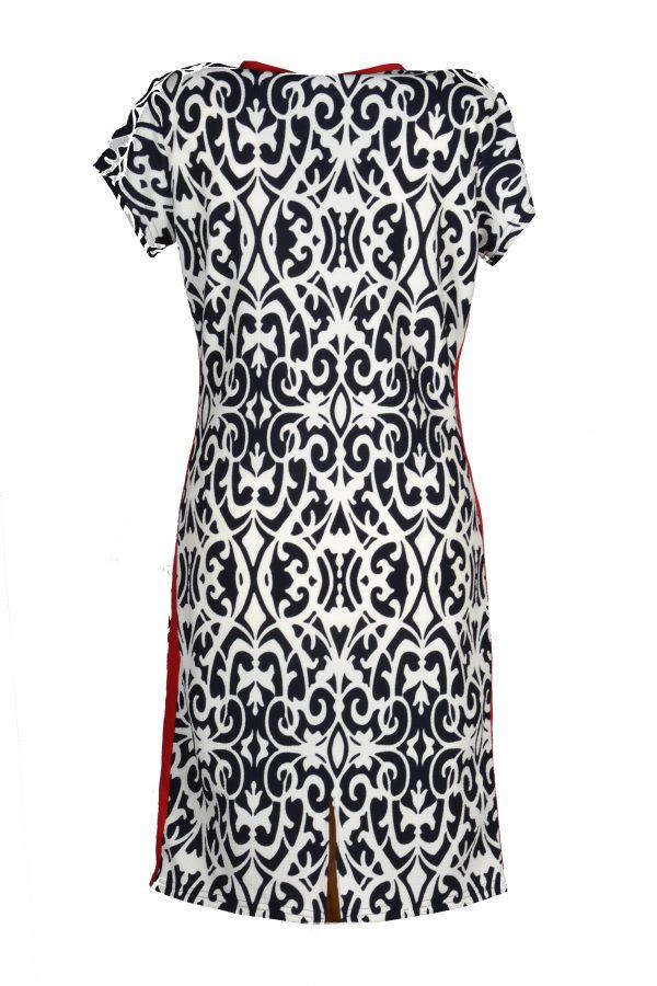 Stella Moretti jurk ornament achter