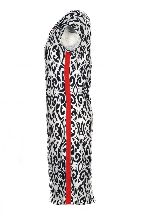 Stella Moretti jurk ornament zijkant