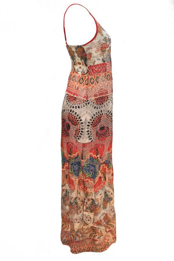101 Idees jurk Lang Rozen zijkant