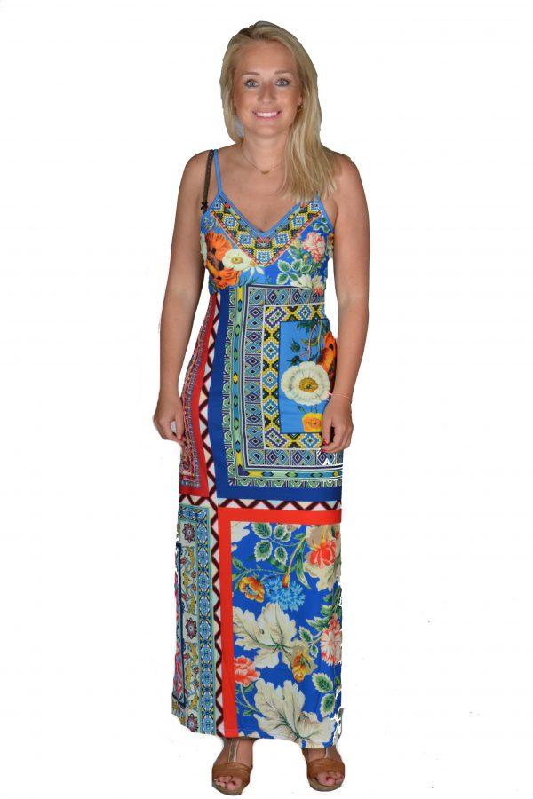101 Idees jurk lang Kobalt