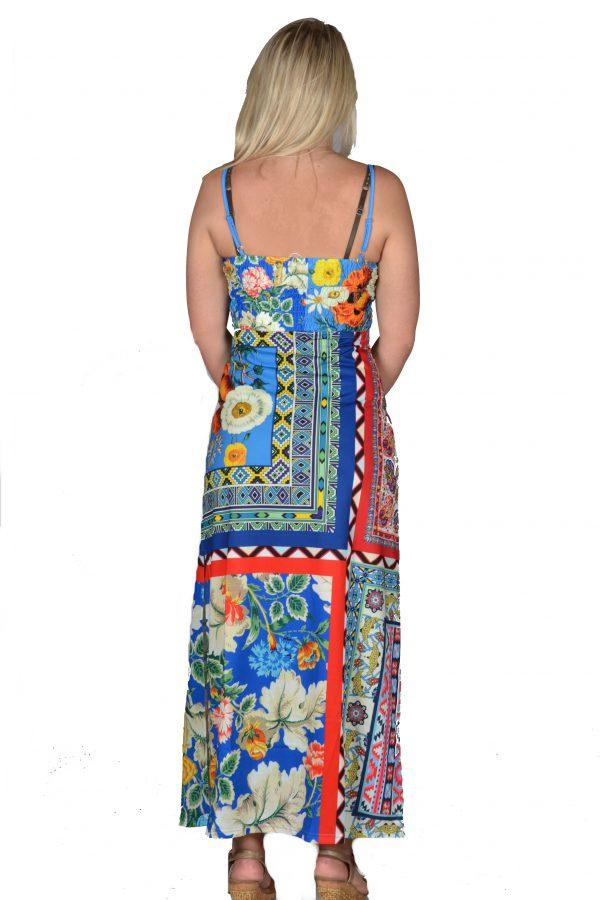 101 Idees jurk lang Kobalt achter