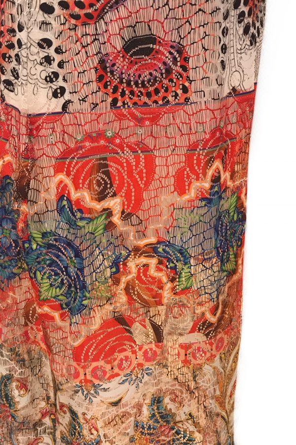 101 Idees jurk lang Rozen Kant detail