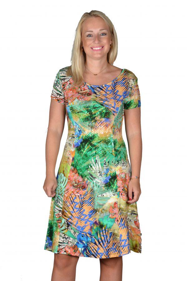 Angelle Milan jurk Exotisch Groen