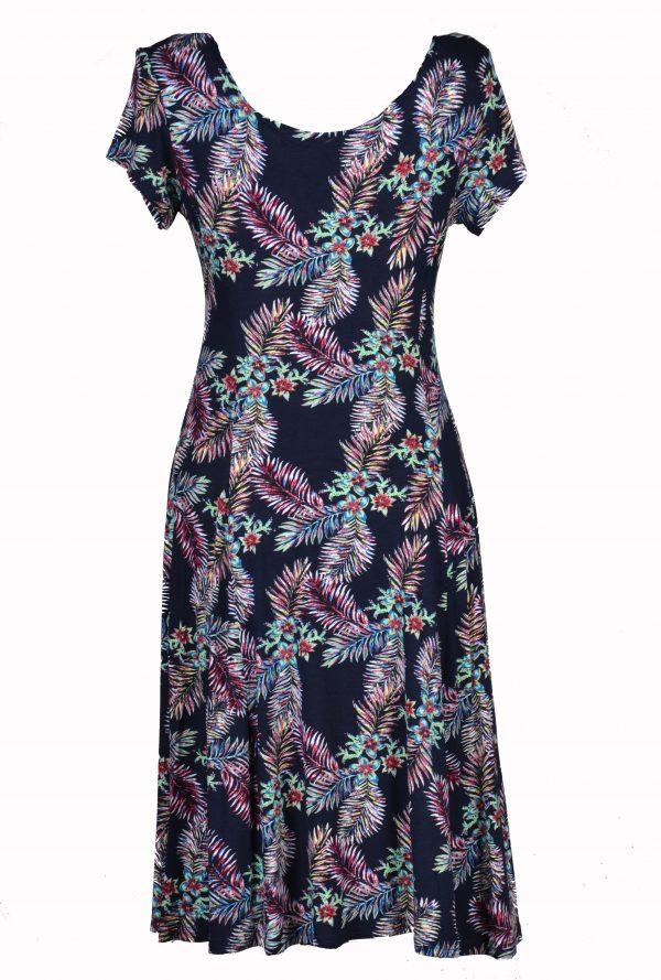 Papillon jurk Gekleurde Varenblad achter