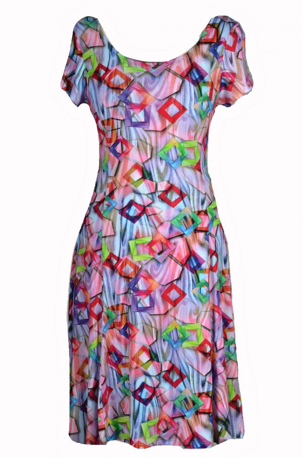 Stella Moretti jurk Gekleurd met Vierkantjes
