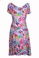 Stella Moretti jurk Gekleurd met Vierkantjes achter