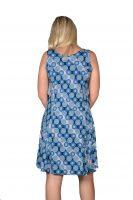 Stella Moretti jurk mouwloos Rondjes Blauw achter