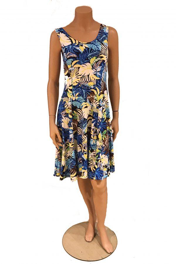 Adnice jurk mouwloos Tropische Bladeren