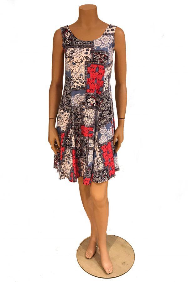 Debbie Morgan jurk mouwloos Patchwork