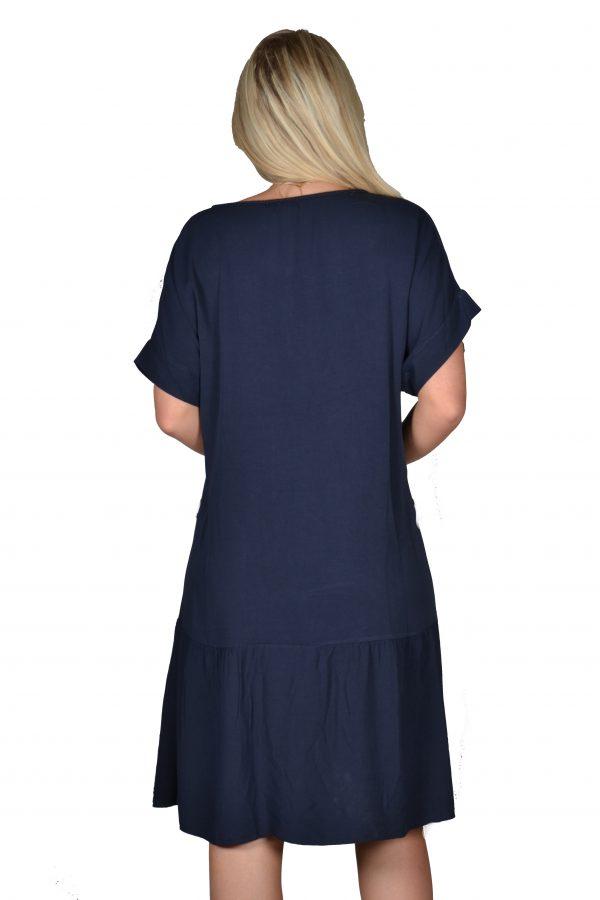 Sensi Wear jurk Marineblauw achter