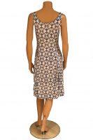 Stella Moretti jurk Mouwloos Blauw Wit achter