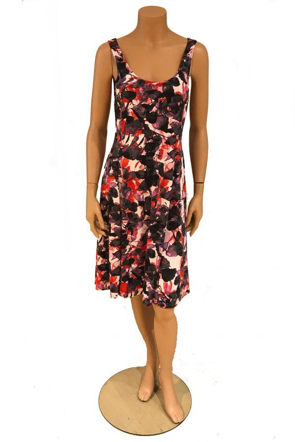 Stella Moretti jurk mouwloos Bladeren