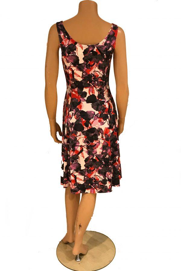 Stella Moretti jurk mouwloos Bladeren achter