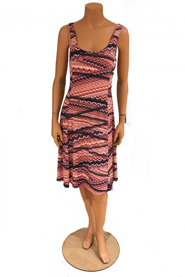 Stella Moretti jurk mouwloos Horizontale Driehoeken