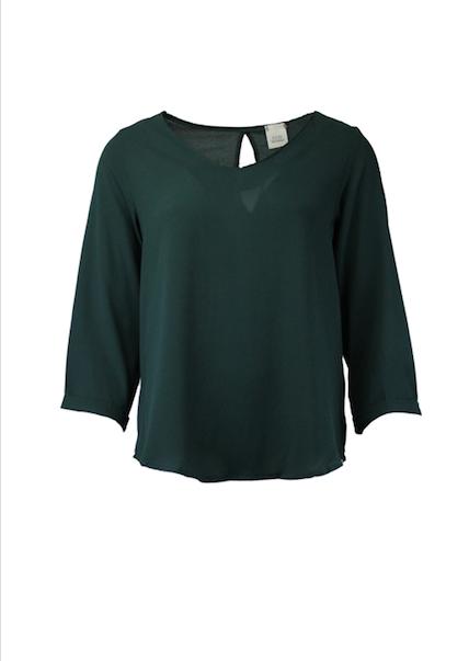 FOS blouse uni groen
