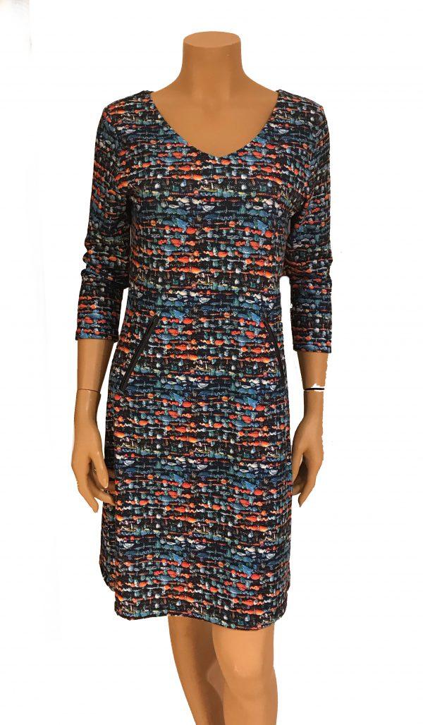 Vegas For Her jurk Geweven Kobalt
